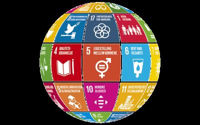 Vi bidrager til 9 ud af FN's 17 verdensmål
